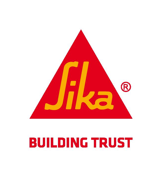Sika Logo mit Claim Building Trust