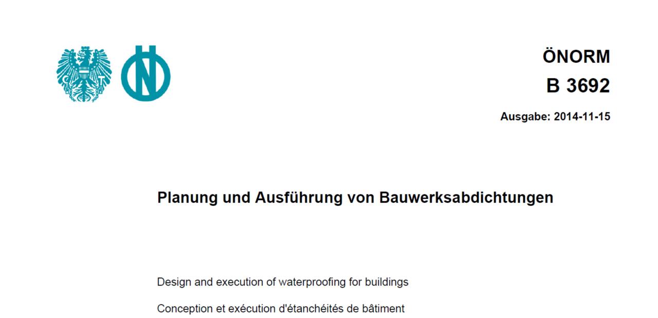 Planung und Ausführung von Bauwerksabdichtungen