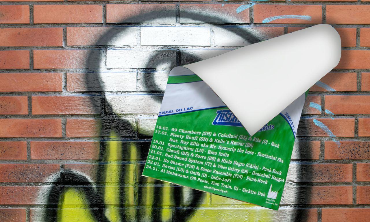 julisteet eivät tartu pinnoitettuun seinään