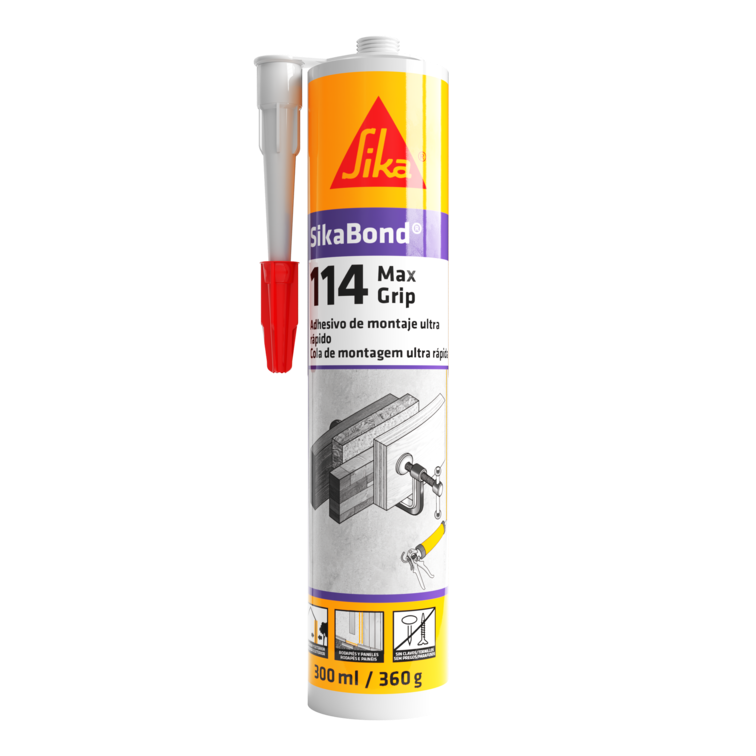 SikaBond®-114 Max Grip   Cola multiusos   Elevada força de colagem