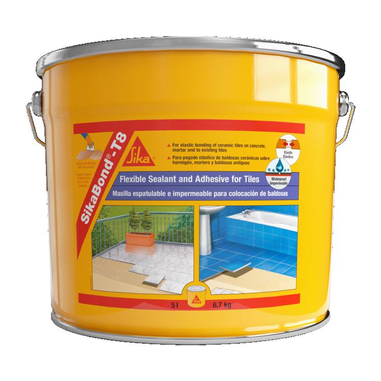SikaBond®-T8 | Acústica Pavimentos | Colagem de cerâmica sobre cerâmica