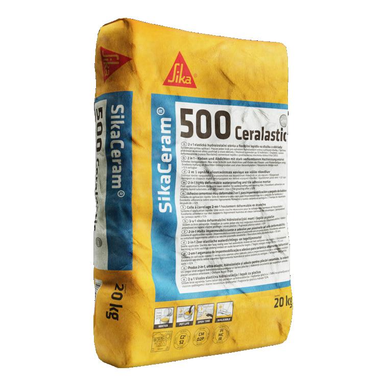 SikaCeram®-500 Ceralastic | Impermeabilização e Colagem cerâmica em varandas e terraços
