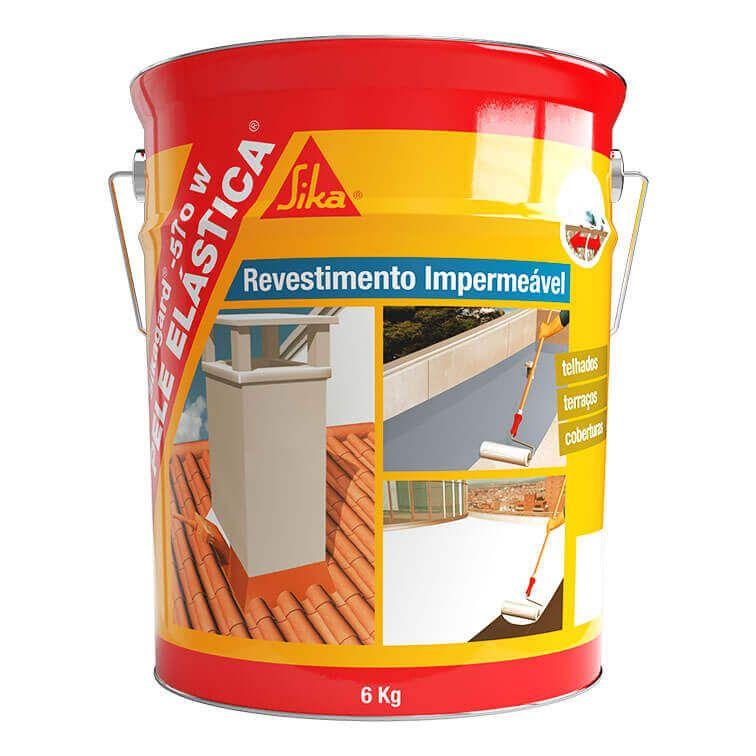 Sikagard®-570 W Pele Elástica® | Impermeabilização de Coberturas | Revestimento impermeavel