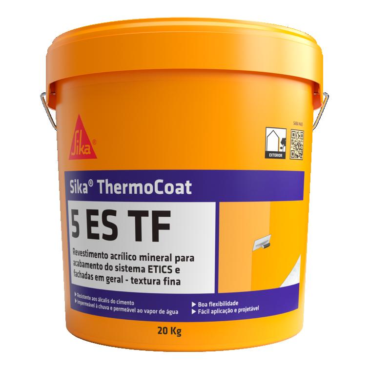 Sika® ThermoCoat-5 ES TF   Acabamento fino (Sistemas ETICS)   Impermeabilização e decoração de fachadas