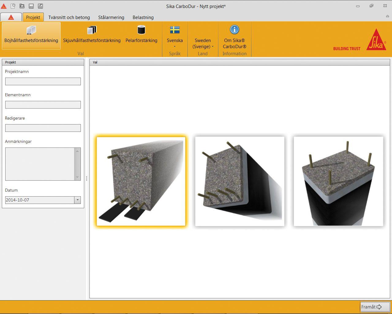 beräkningsprogram för betongkonstruktioner