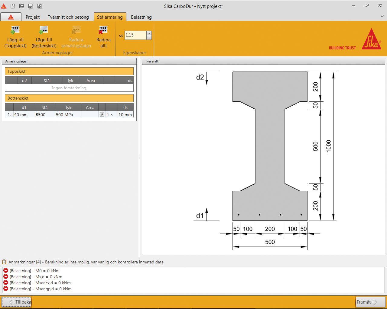 Sika CarboDur beräkningsprogram kolfiberförstärkning