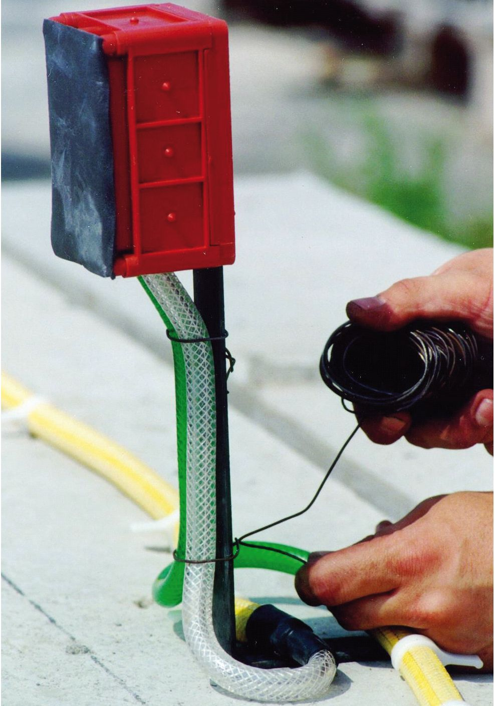 Injektering betong injekteringsslang