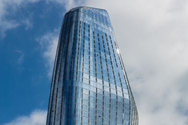 One Blackfriars, informally known as The Vase Skyscraper in South Bank district in Central London.