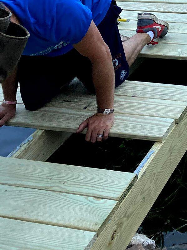 Glueing down board
