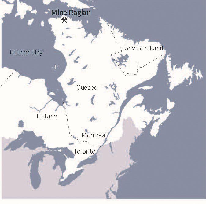 RAGLAN MINE MAP
