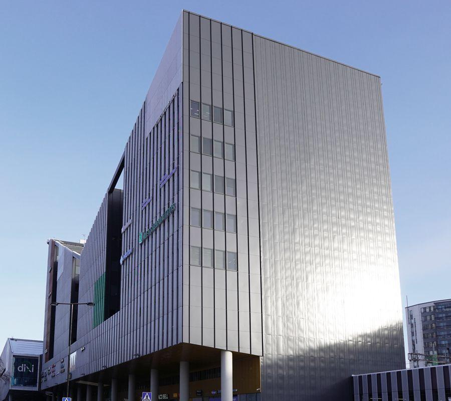 Vesitiivis betonirakenne - Kauppakeskus Dixi