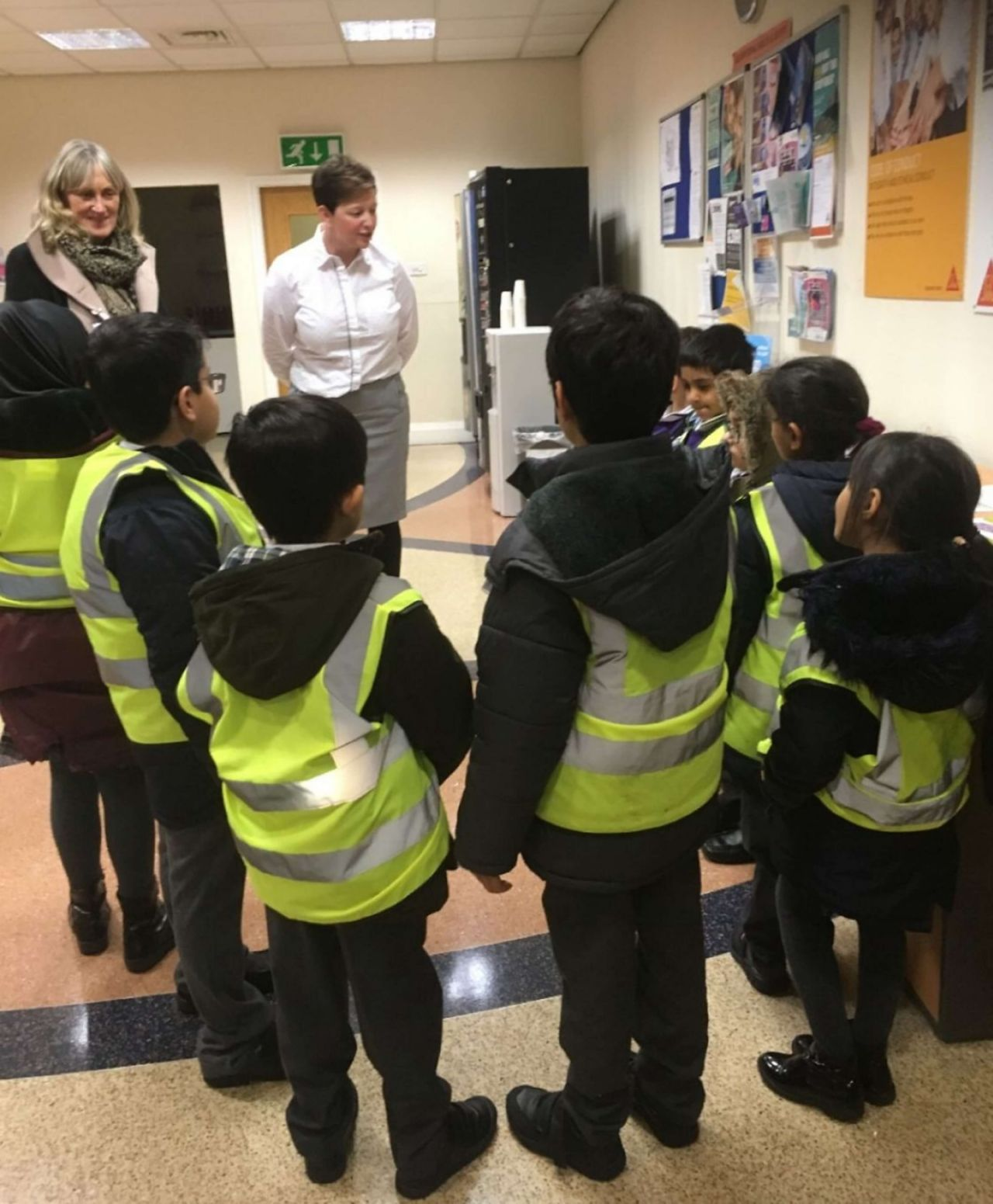 School Children ready for their tour of the Sika Preston office