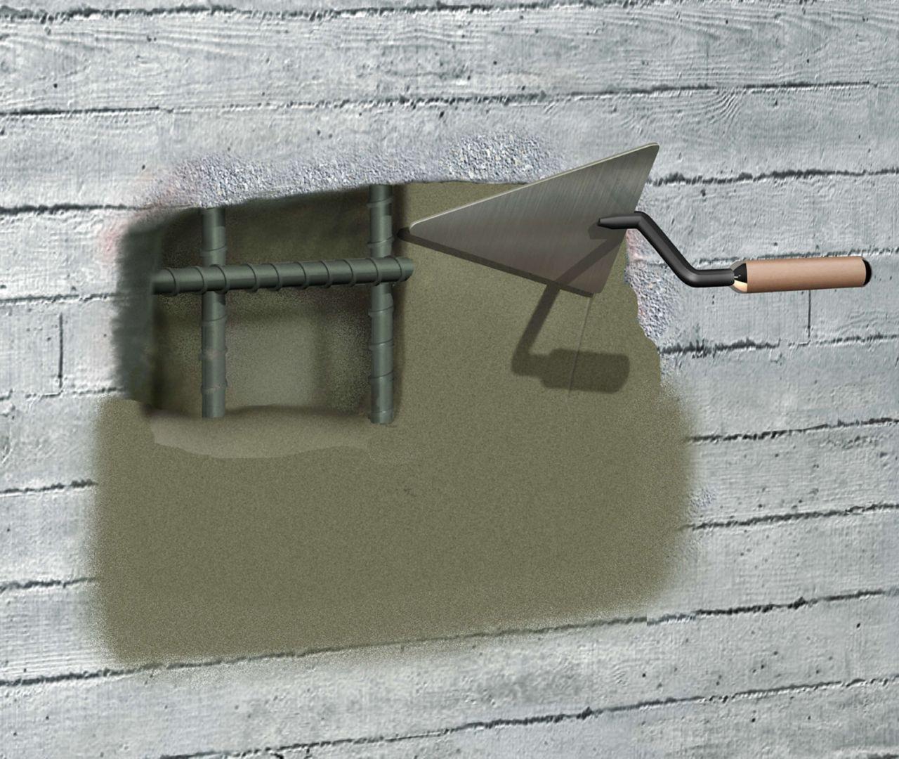 Hand applied concrete repair mortar