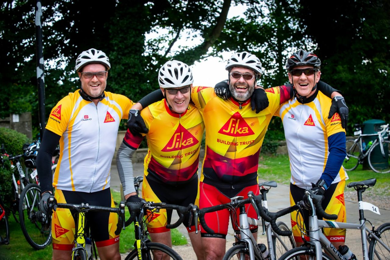Sika South Africa join the ride to help raise funds