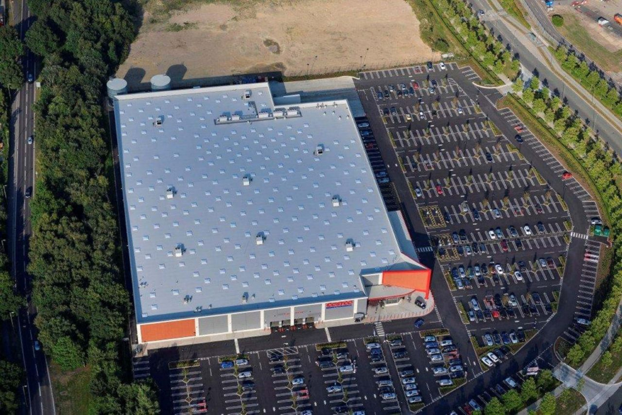 Sika Sarnafil Farnborough Costco warehouse roof