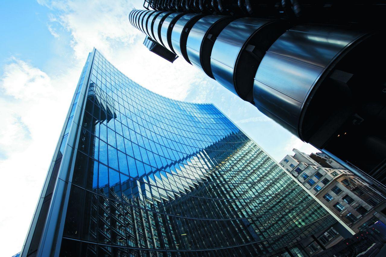 Facade high rise glass