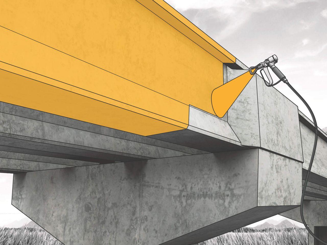 Spray concrete protection
