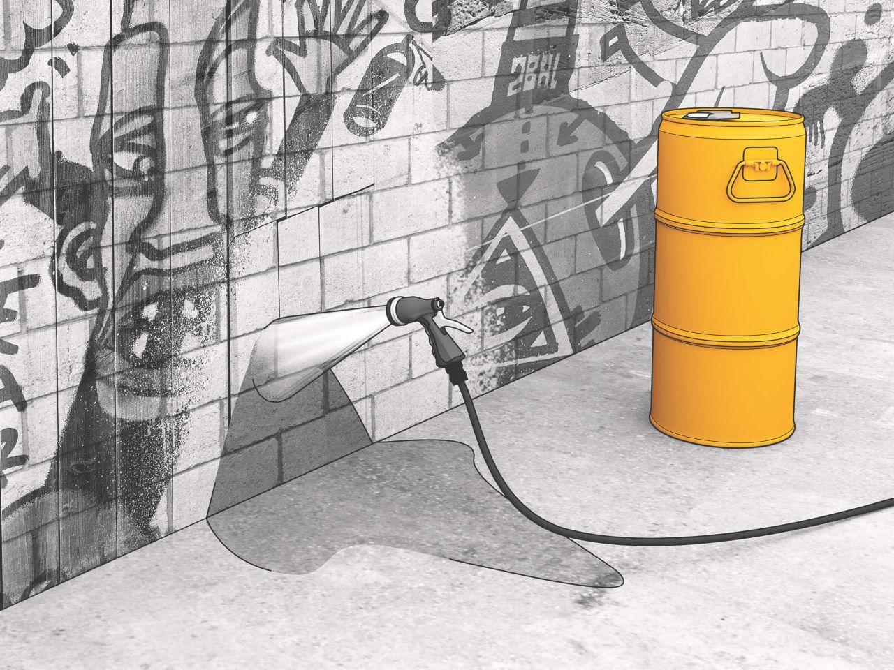 Anti graffiti concrete protection