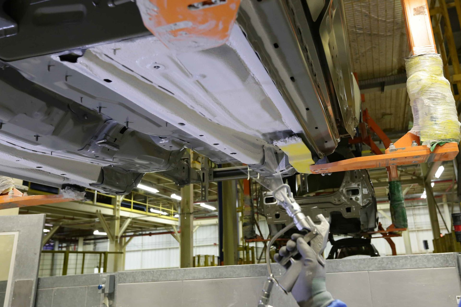 SikaSeal® one-component underbody sprayable application on e-coated surface