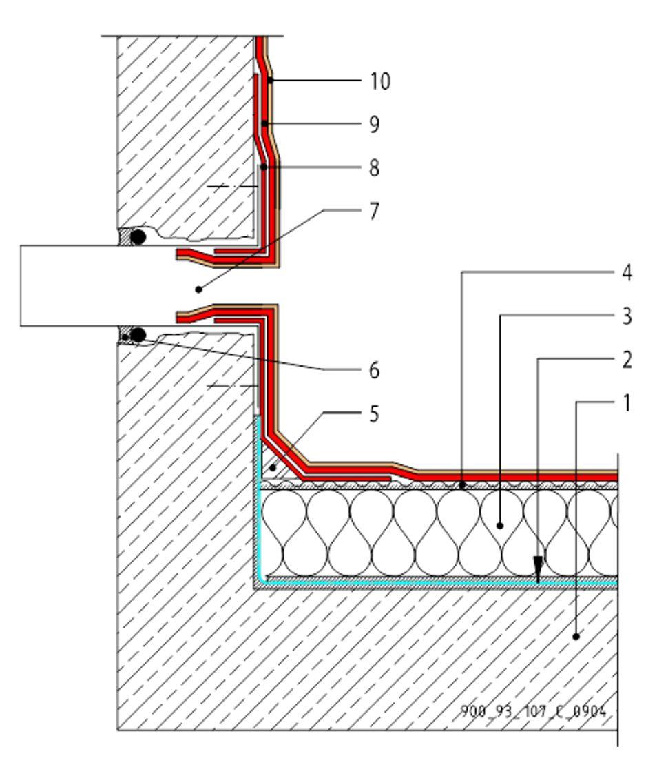 CAD Detalji - MTC membrane - preljev