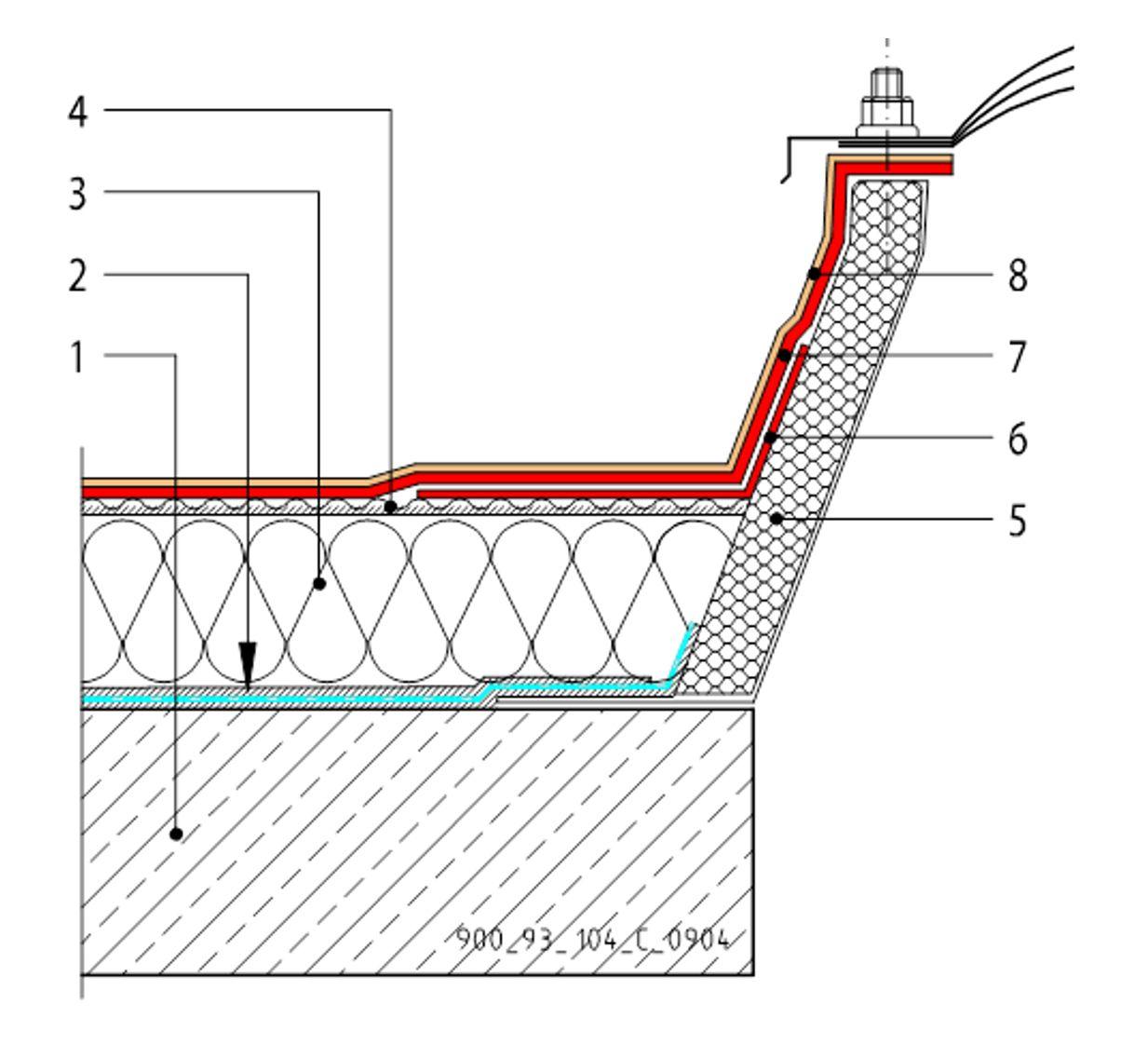 CAD Detalji - MTC membrane - svjetlarnik