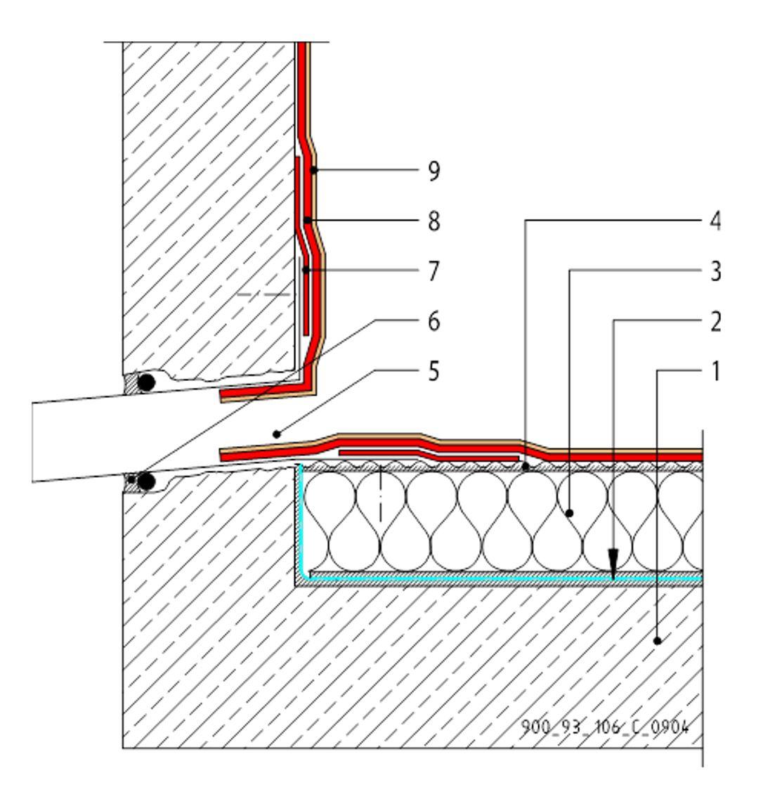 CAD Detalji - MTC membrane - zidni slivnik