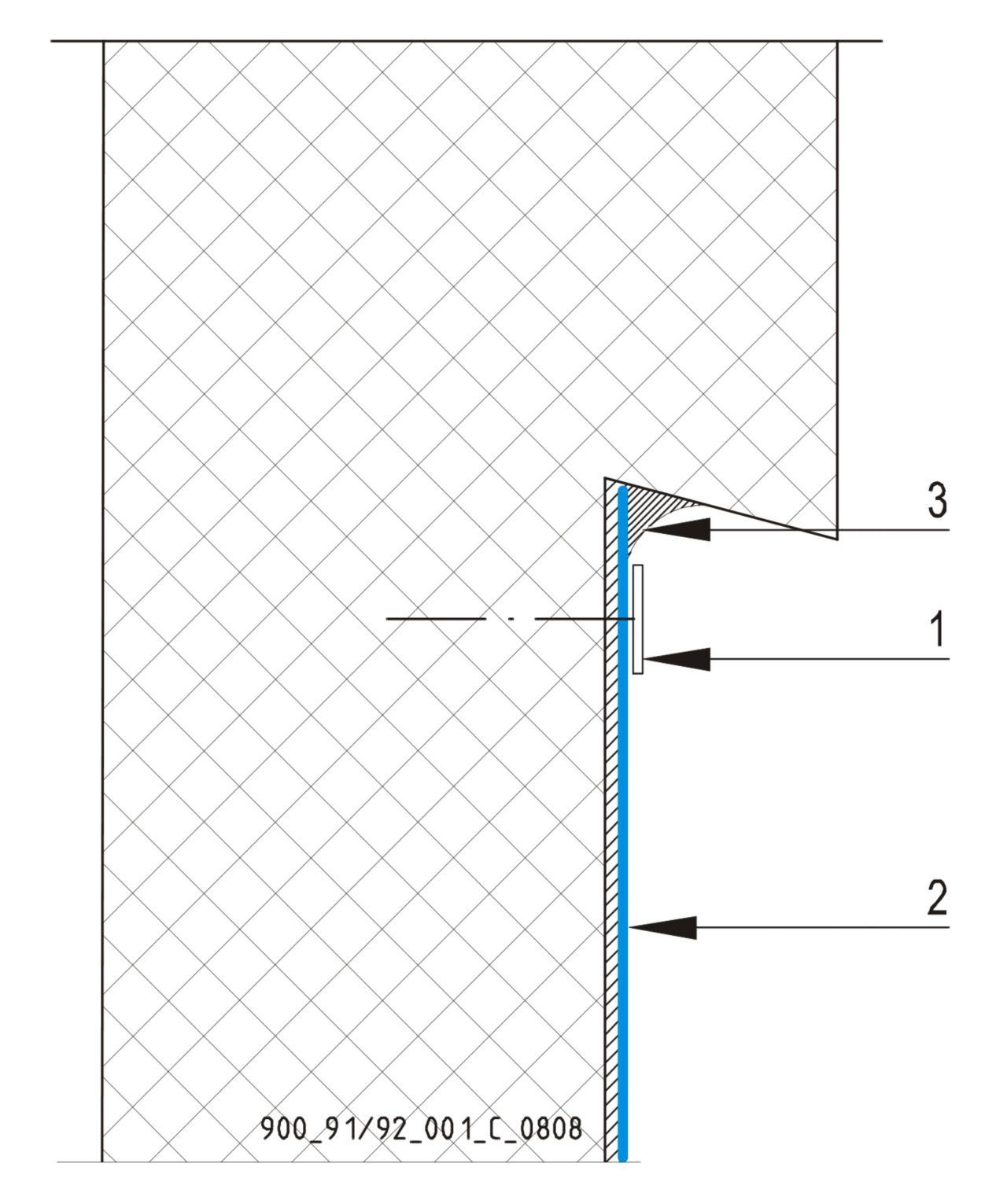 CAD Detalji - osnovni principi - završetak ispod prepusta