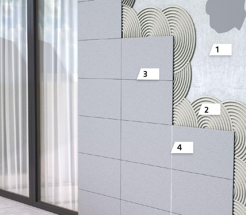 Polaganje pločica na fasadama