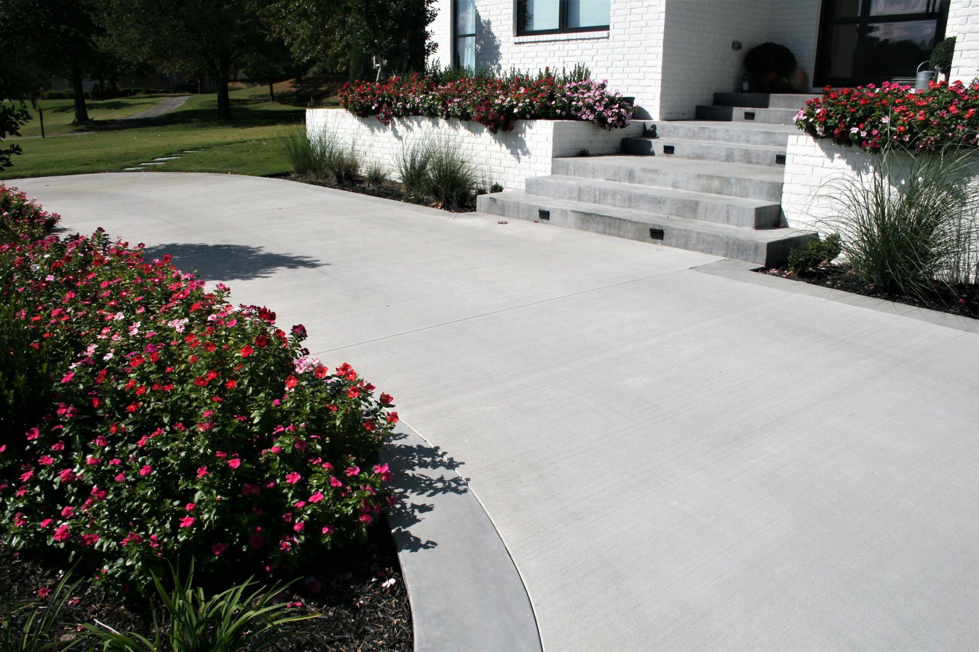 Integral Color driveway