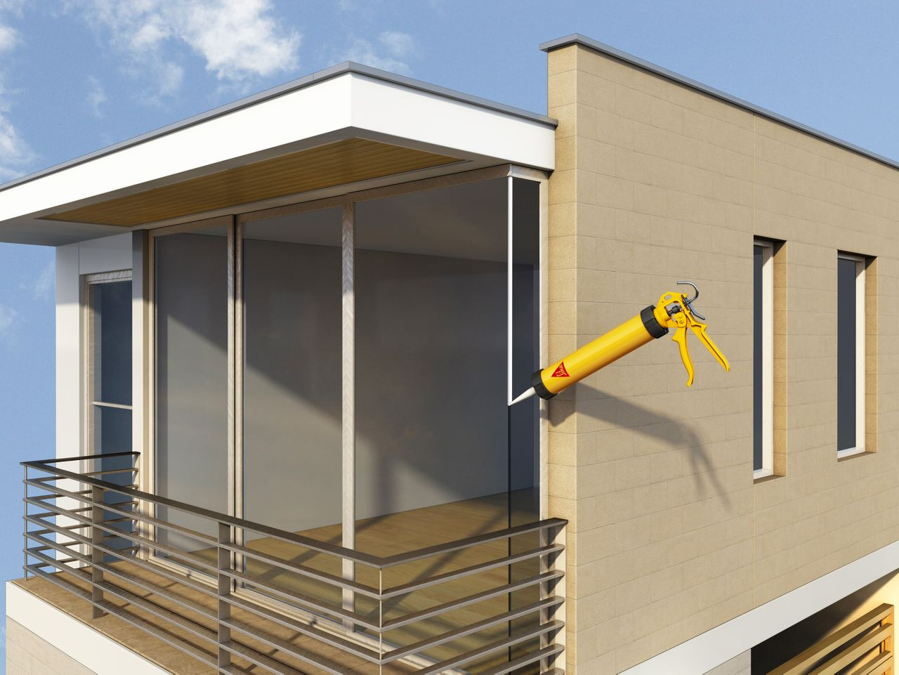 Make it Pro Seal Glass Joints Balcony