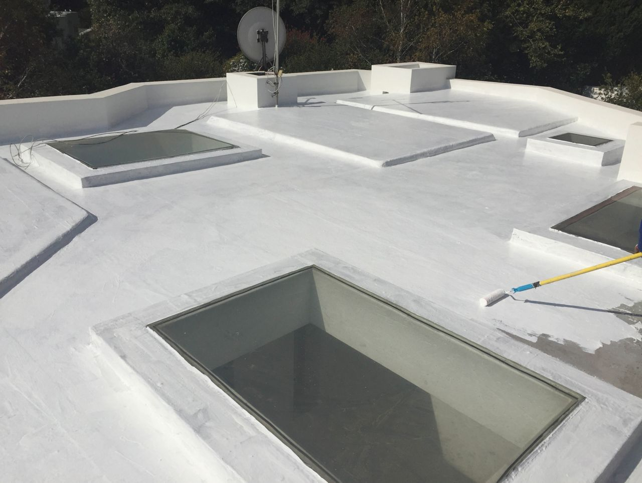 Waterproof System for a Flat Roof