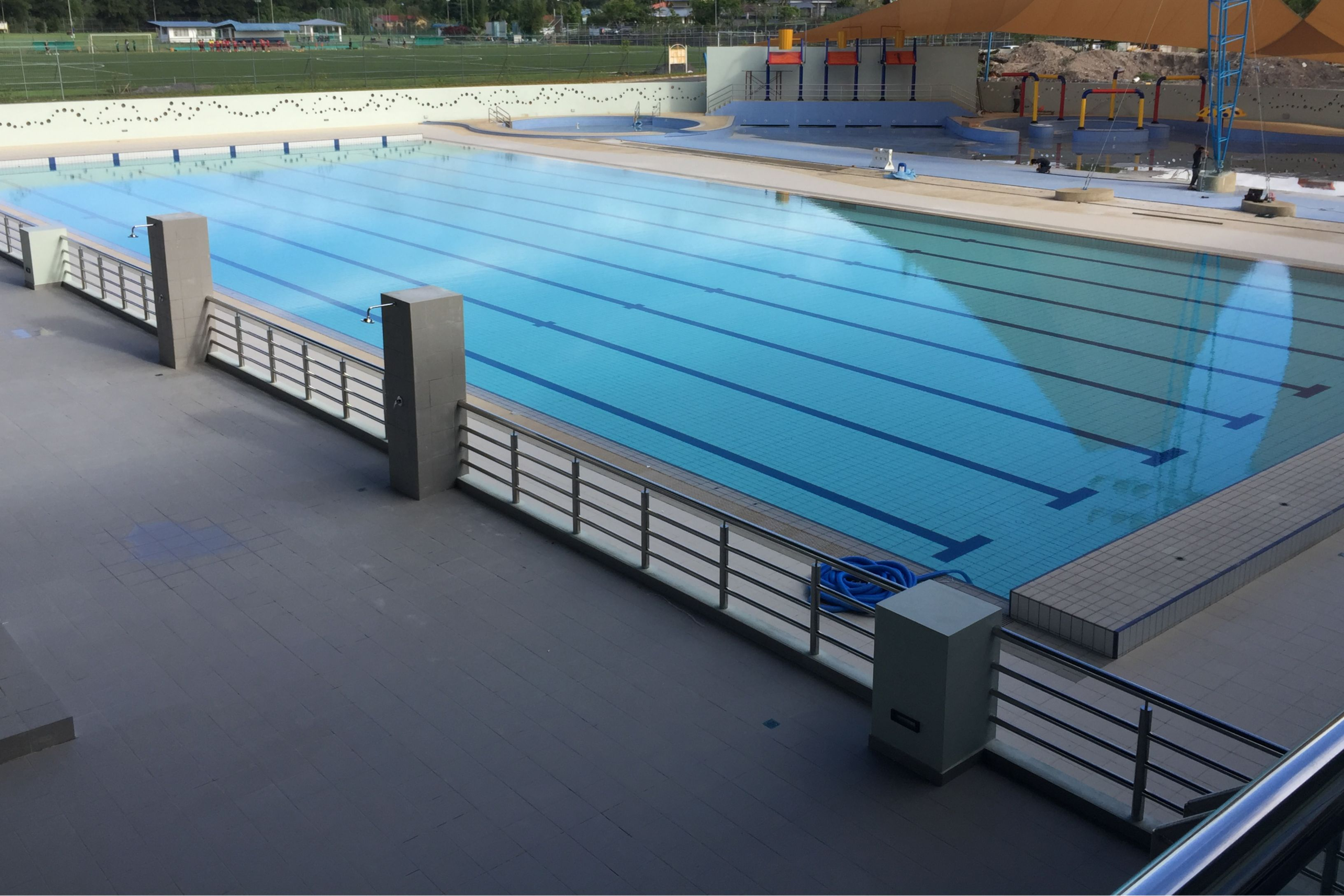 Swimming pool at Pandelela Rinong Aquatics Centre, built with Sika waterproofing products.