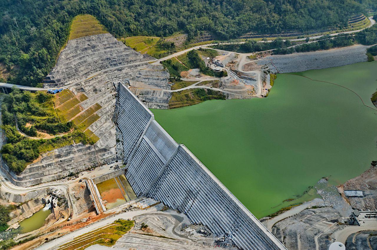 bird-eye-view of the Susu Dam