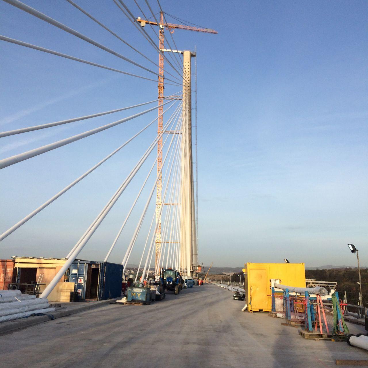 A faster crossing to Edingburgh.  The new bridge in Scotland