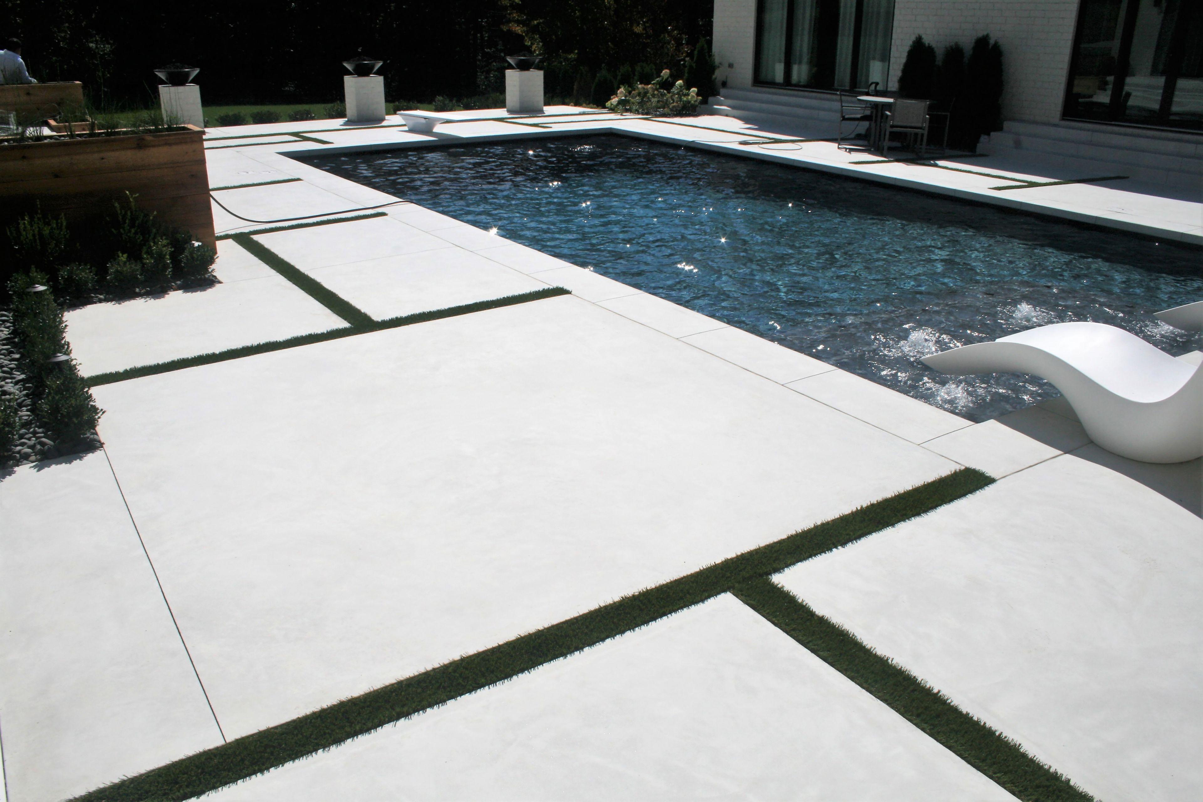 Integral Color pool deck
