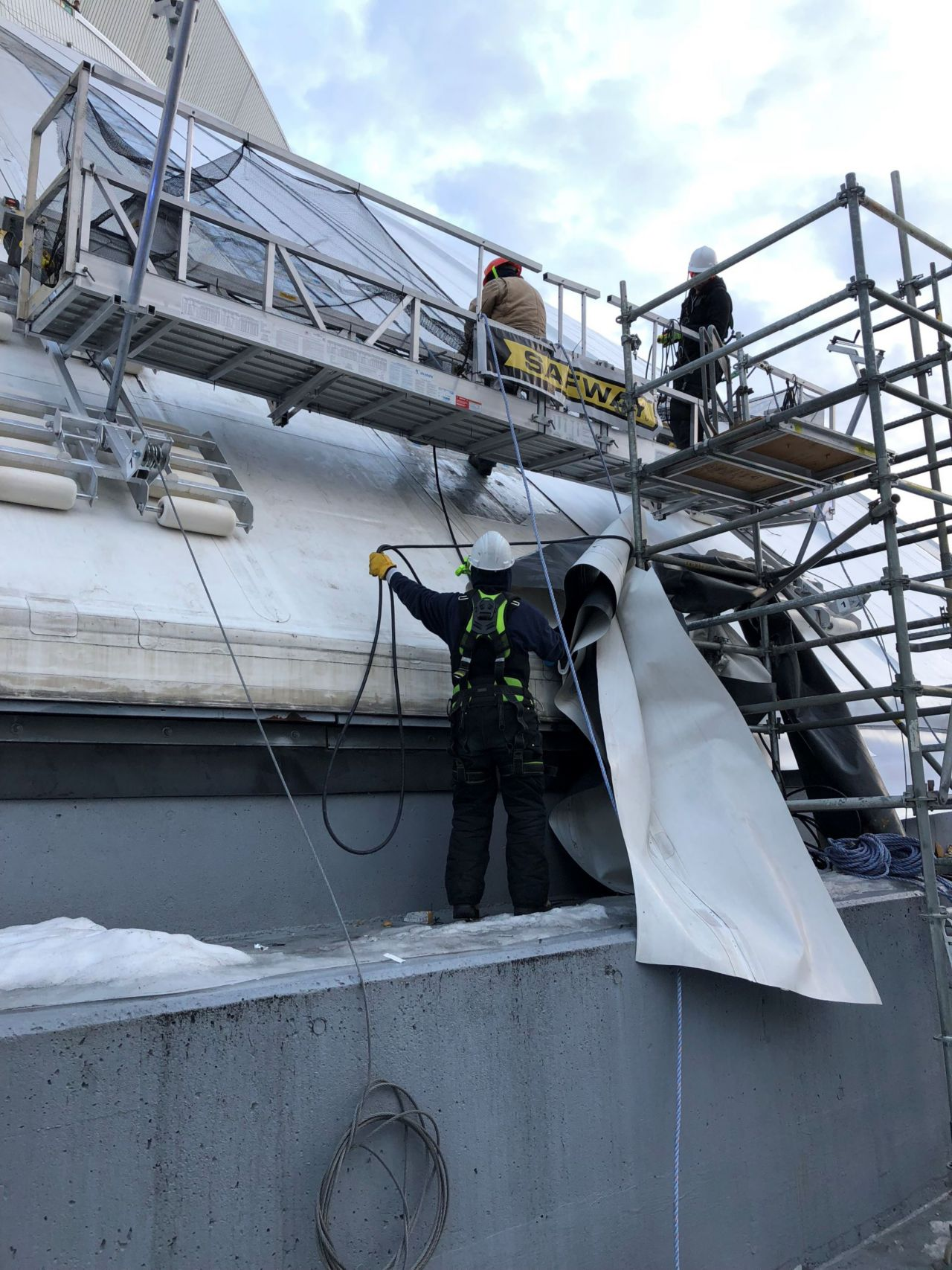 Work on the Roger Center Roof