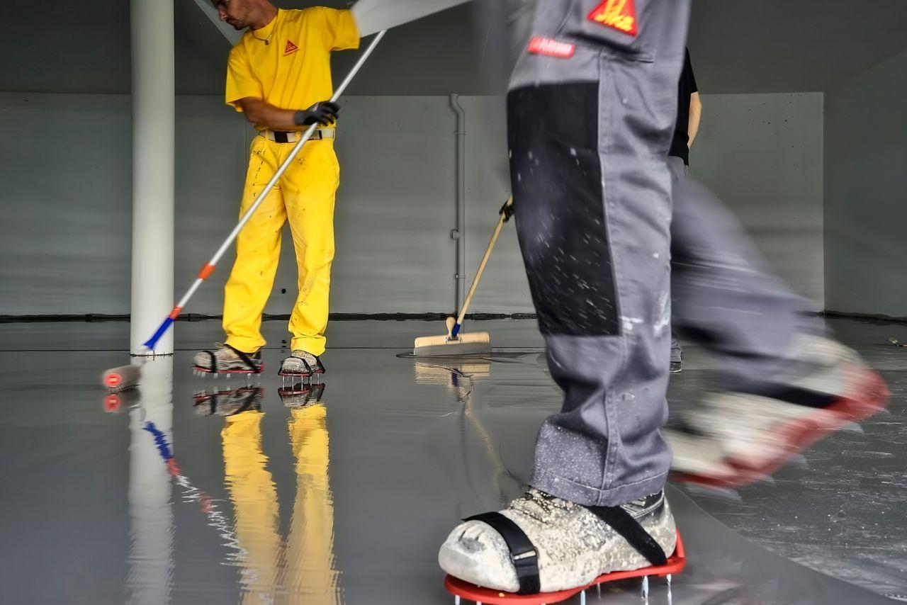 Applicering av fogfria golv
