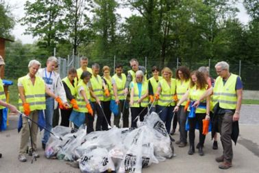 Group Collecting Waste