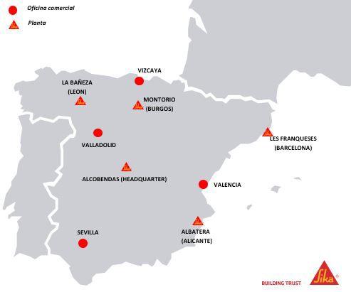 Sika España mapa
