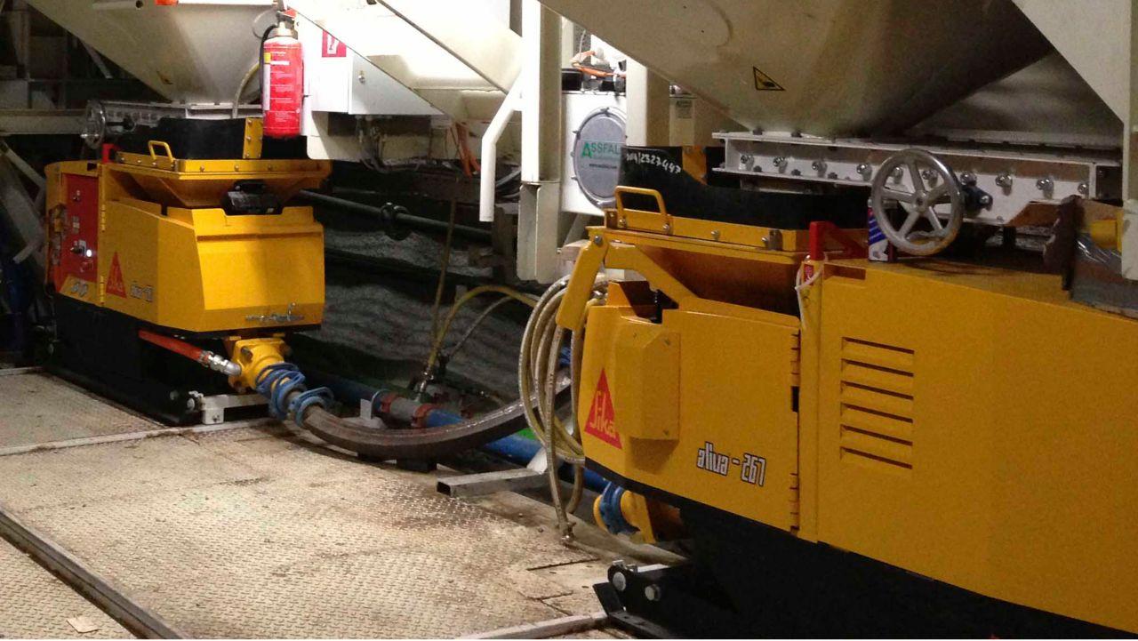 Beton-Spritzsystem für Tunnelbohrmaschinen TBM
