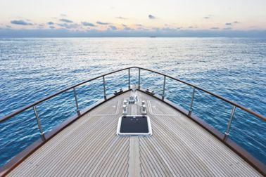 Italy, Lazio, Fiumicino, Tirrenian sea, Morgan 70' Lobster luxury yacht, bow; Shutterstock ID 50426287; PO: Marine Flyer