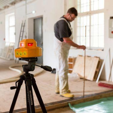Lasermessungen ermöglichen genaues Arbeiten