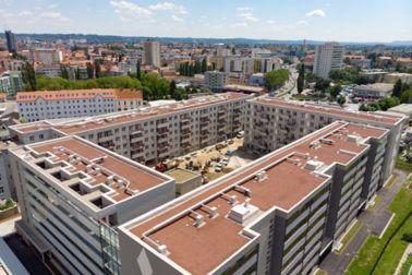 Ein sicheres Gründach für die neuen Wohnungen in Graz