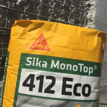 Sika MonoTop®-412 Eco ist ein Betoninstandsetzungsprodukt der Klasse R4 für die statisch relevante Instandsetzung mit reduzierten CO2-Fussabdruck