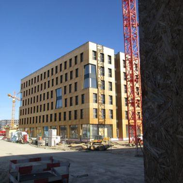 Der erste Bauteil des HoHo Wien ist bereits fertig und zeigt seine Schönheit