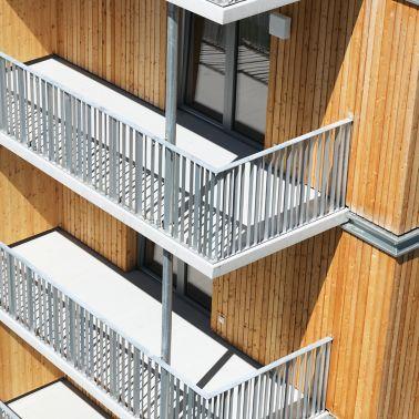 Jede der 92 Wohneinheiten verfügt über Balkon oder Terrasse
