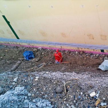 Abdichtung des Anschlusses Bodenplatte-Wand mit Sikadur-Combiflex®