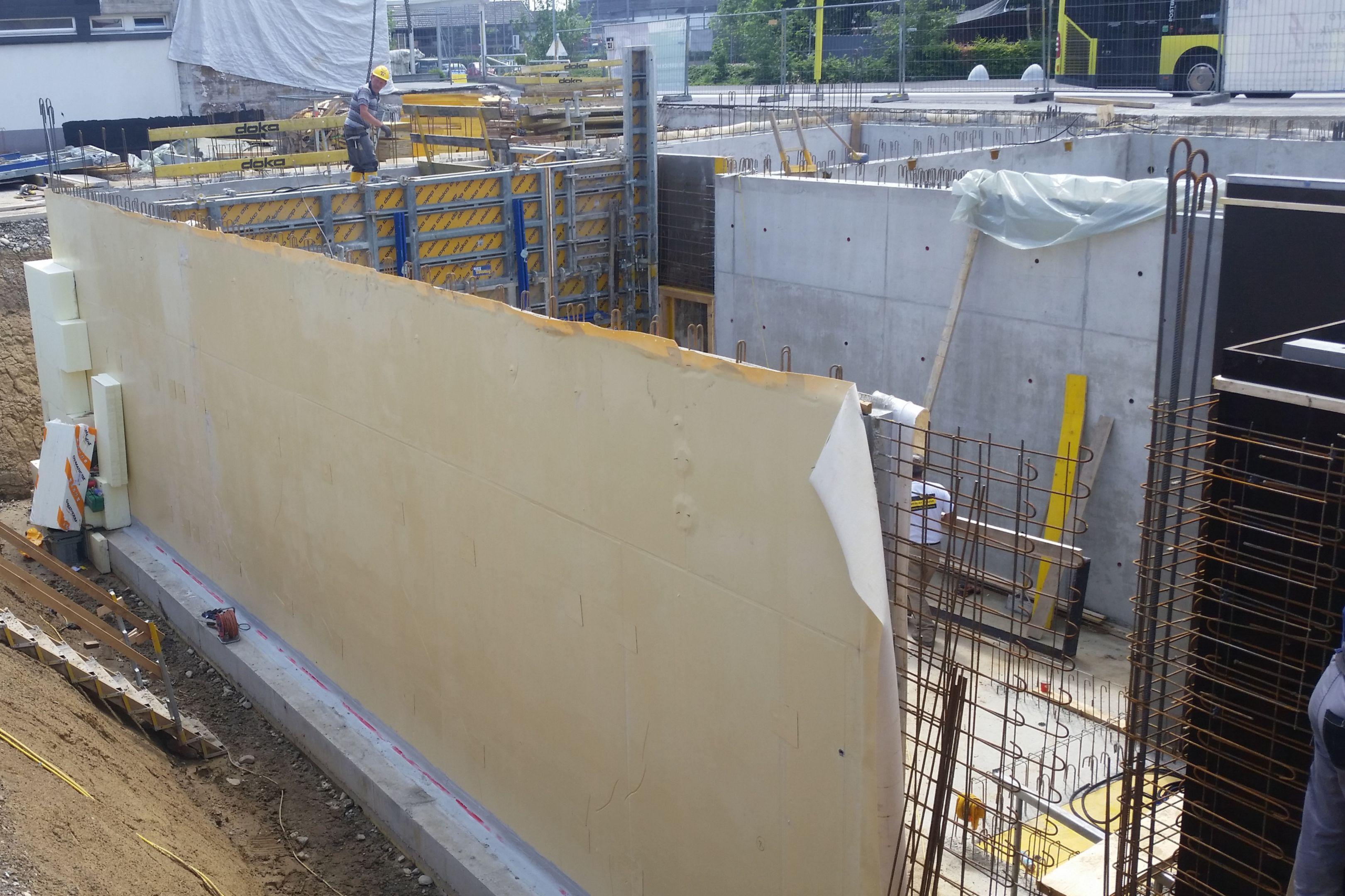 Abdichtung des erdberührten Gebäudebereichs