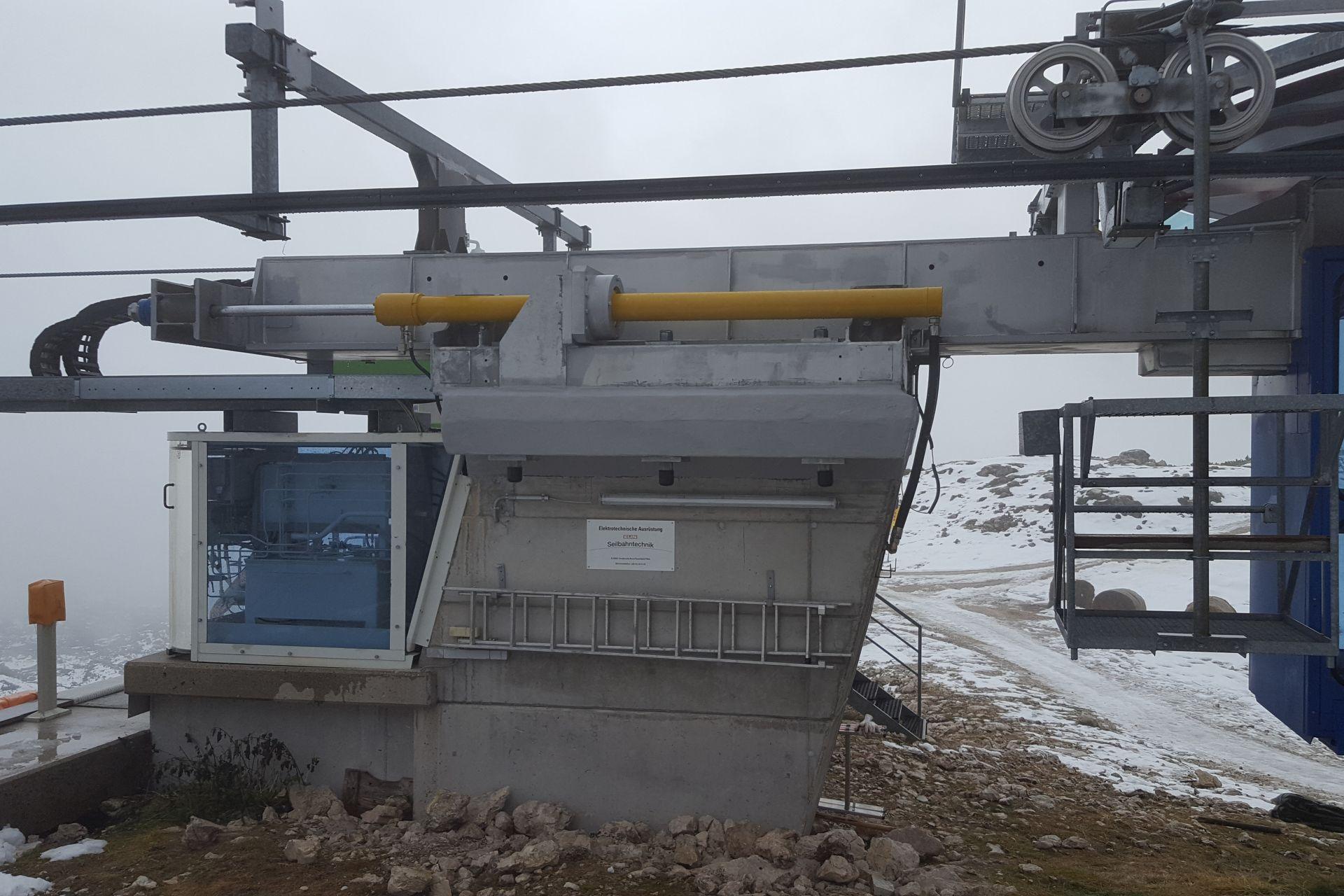 Betoninstandsetzung einer Liftstütze auf 2.069 m Seehöhe