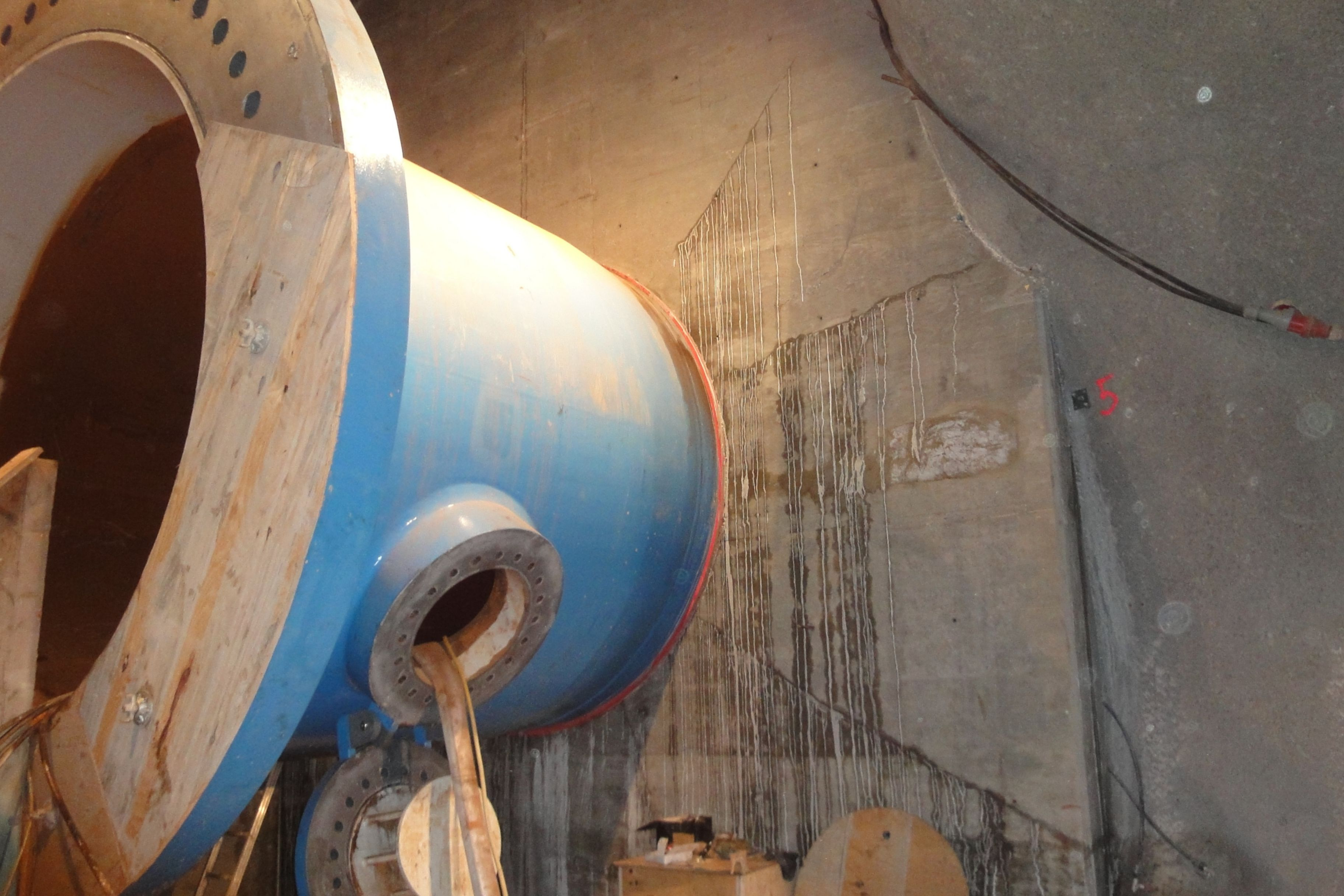 Ringspaltinjektion beim Neubau des Druckschachtes